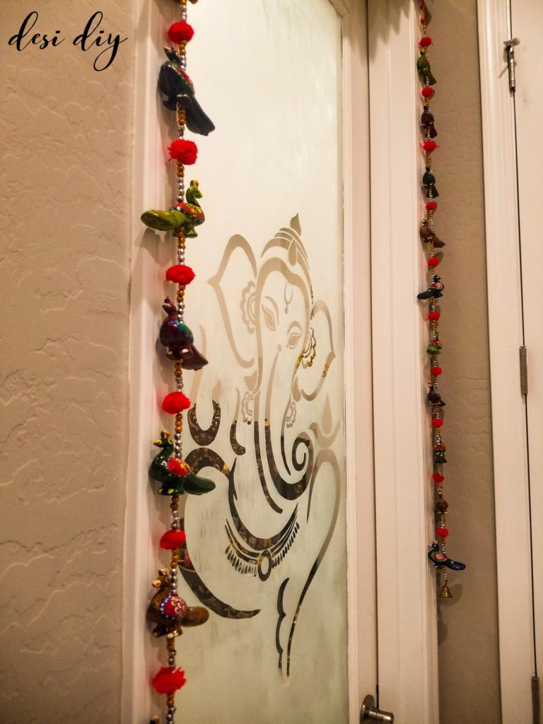Etched Glass Pooja Room Door Desidiy